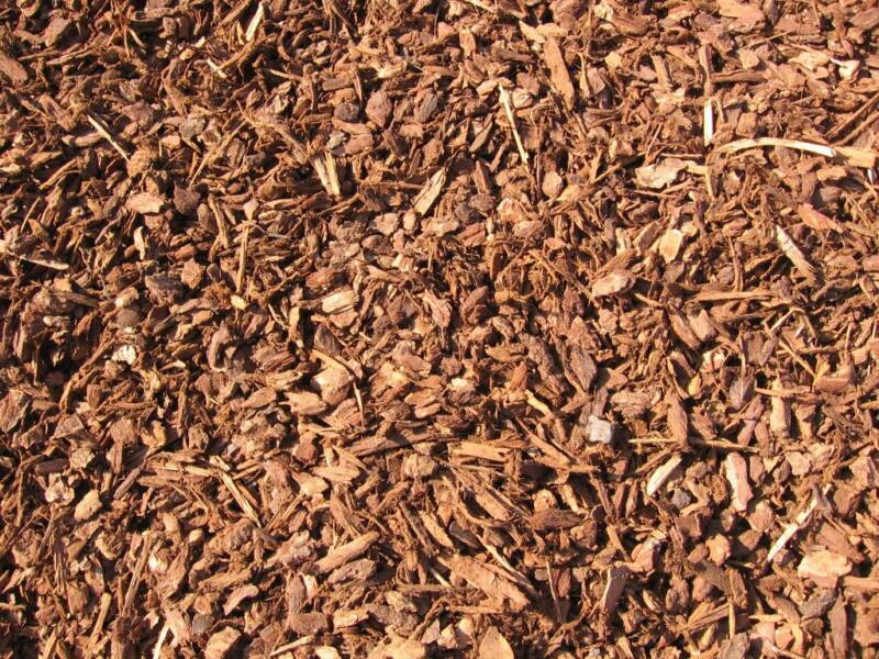 Redwood Bark Chips ~ Soildirect redwood mini bark nuggets in riverside